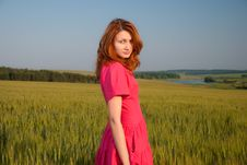 Free Woman In Red Dress Royalty Free Stock Images - 14721479