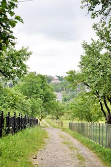 A Village Road Stock Image