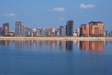 New Buildings On The River Embankment. Stock Photo