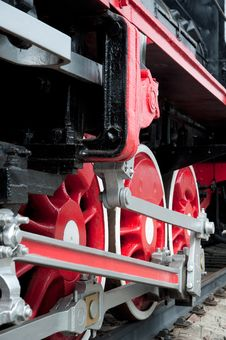 Free Old Steam Engine Wheels Close-up Stock Image - 14723201