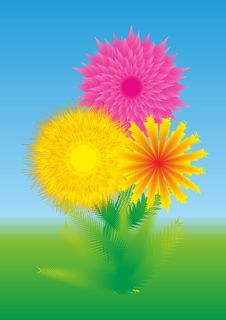 Free Abstract Flowers Royalty Free Stock Photos - 14723308
