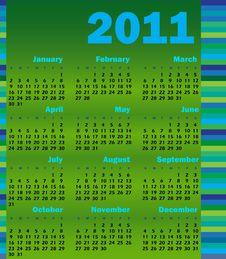 Free Calendar For 2011 Stock Photo - 14723470