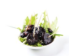 Free Bowl Of Greens And Prunes Royalty Free Stock Photography - 14723637
