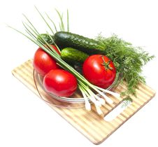Free Cucumber And Tomatoes Stock Image - 14724001