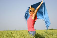 Free Sexy Girl In A Wheat Field Royalty Free Stock Photography - 14725167