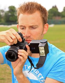 Free Young Man With Camera Royalty Free Stock Images - 14725439