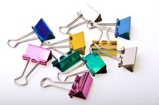 Colored Paper Clip Royalty Free Stock Photography