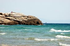 Free Beach On The Aegean Sea Royalty Free Stock Images - 14726079