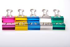Line Of Paper Clip Royalty Free Stock Images