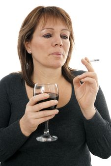 Cigarettes And Alcohol Stock Photo