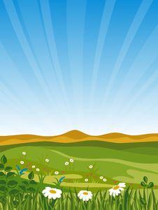 Free Summer Landscape. Stock Image - 14727591