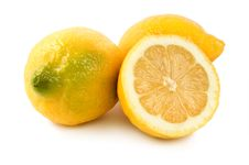 Free Three Ripe Lemons Stock Photography - 14727622