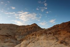 Free Rocky Desert Landscape At Sunset Royalty Free Stock Image - 14727906