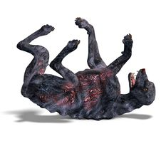 Free Creepy Alien Dog Out Of Hell. 3D Rendering With Stock Image - 14729061