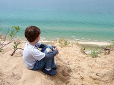 Free Young Child At Beach Stock Photography - 14729282