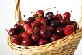 Free Basket With Cherries Royalty Free Stock Image - 14730666