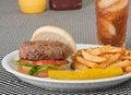 Free Hamburger On A Bun Royalty Free Stock Images - 14736929