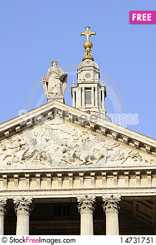 Free Architectural Details Of Saint Paul S Cathedral Stock Image - 14731751