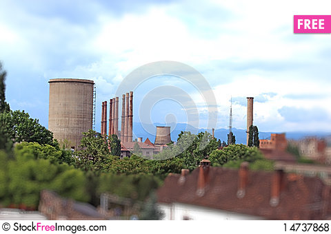 Free Industrial City Royalty Free Stock Photos - 14737868