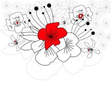 Free Greeting Card With  Flowers Royalty Free Stock Photo - 14730355