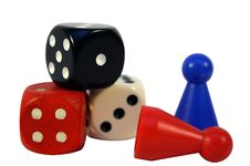 Free Dices And Checkers Stock Photography - 14730752