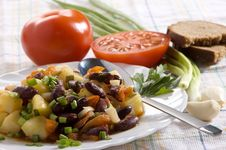 Free Chinese Dish - Salad With Beans Royalty Free Stock Image - 14731596