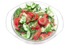 Free Salad Made Of Fresh Tomatoes Stock Photos - 14732013