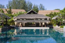 Swimming Pool In Thailand Hotel Royalty Free Stock Images
