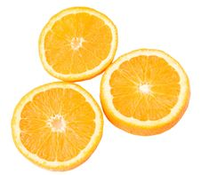 Juicy Orange Section Royalty Free Stock Images