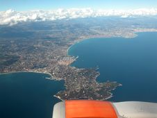 Aerial View Of Cote D'Azur Royalty Free Stock Photo