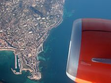 Aerial View Of Cote D'Azur Royalty Free Stock Photos