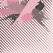 Pink Banner In Grange Style Royalty Free Stock Image