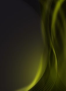 Futuristic Green Design Royalty Free Stock Photo