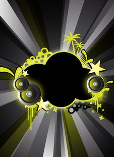 Abstract Black Party Design Royalty Free Stock Photos