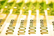 Euro Notes Royalty Free Stock Photo
