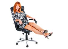 Free Charming Smile Girl Sits On Armchair Royalty Free Stock Photos - 14736198