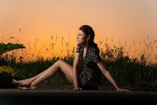 Free Sunset Roadside View Royalty Free Stock Photos - 14736308