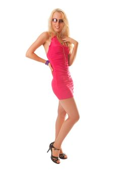 Free Girl In A Red Dress Stock Photography - 14736322