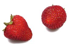 Free Two Strawberries Royalty Free Stock Image - 14736346