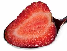 Free Strawberry In Spoon Stock Images - 14736354