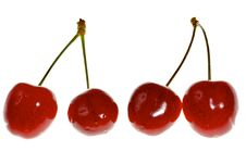 Free Four Sweet Cherries Stock Images - 14736384