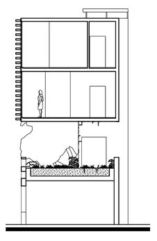Free Sectional Drawing Of House And Its Garden Stock Photos - 14736413