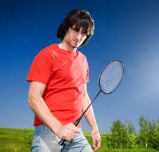 Free Boy With Racket Stock Image - 14736511