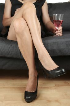 Free Woman  Legs   Feet  Relaxing Stock Photography - 14738002