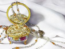 Open Casket With Jewellery