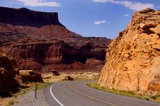 Drive Through Glen Canyon Royalty Free Stock Photo