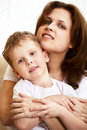 Free Happy Young Mother Hugging Her Little Son Royalty Free Stock Image - 14749396