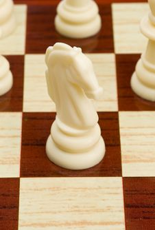 Free White Horse In Chess Game Stock Photography - 14740602