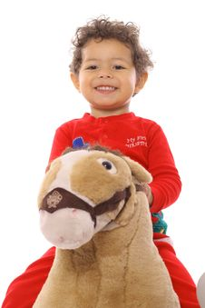 Free Toddler On A Pony Stock Photos - 14741103