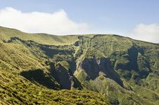 Steep Cliffs Of Volcano In Faial, Azores Stock Image